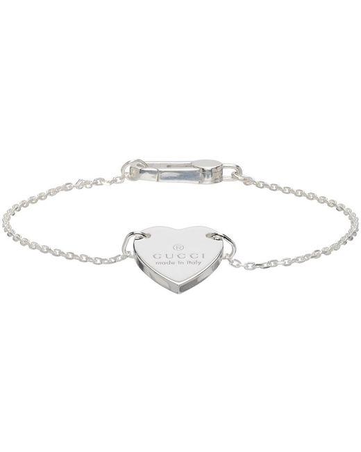 Gucci シルバー Trademark Heart ブレスレット Metallic