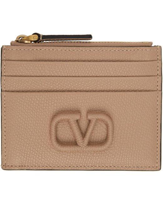 Valentino Garavani コレクション ピンク Vlogo ジップ カード ケース Multicolor