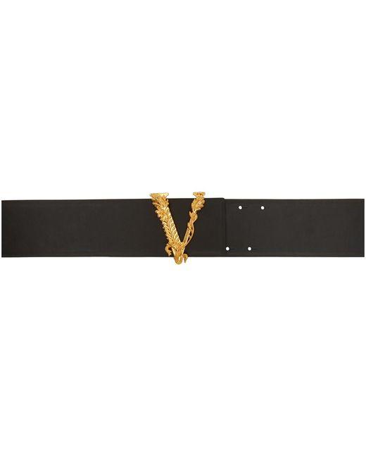 Versace ブラック ヴィルトゥス ベルト Black