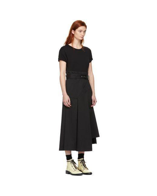 3fc480fd4113b ... 3.1 Phillip Lim - Black Jersey T-shirt Dress - Lyst ...
