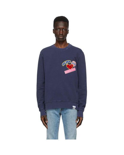 メンズ Golden Goose Deluxe Brand ネイビー Archibald スウェットシャツ Blue