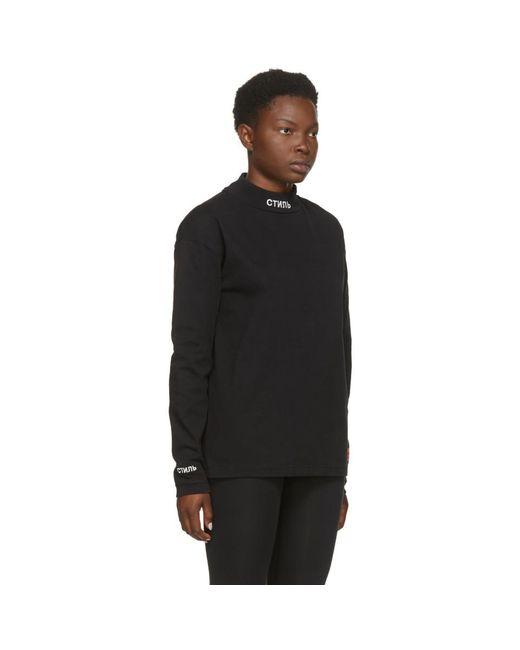 Heron Preston ブラック Style ロング スリーブ T シャツ Black