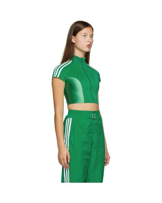 Adidas Originals Paolina Russo Edition グリーン クロップ トップ Green