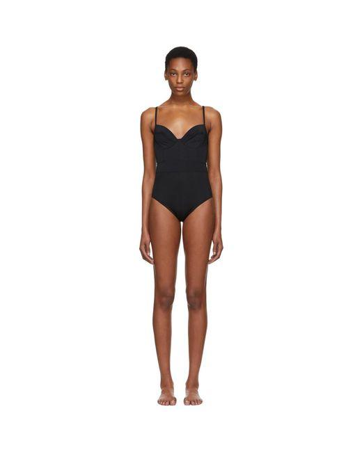 Proenza Schouler - Black Undewire Lingerie Swimsuit - Lyst