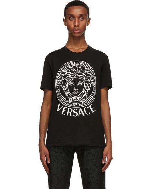 メンズ Versace Ssense 限定 ブラック & ホワイト Medusa T シャツ Black