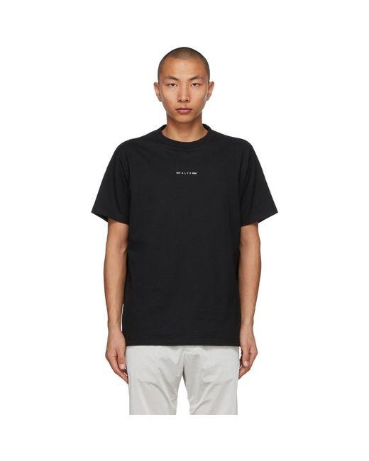 メンズ 1017 ALYX 9SM ブラック Visual ロゴ T シャツ Black