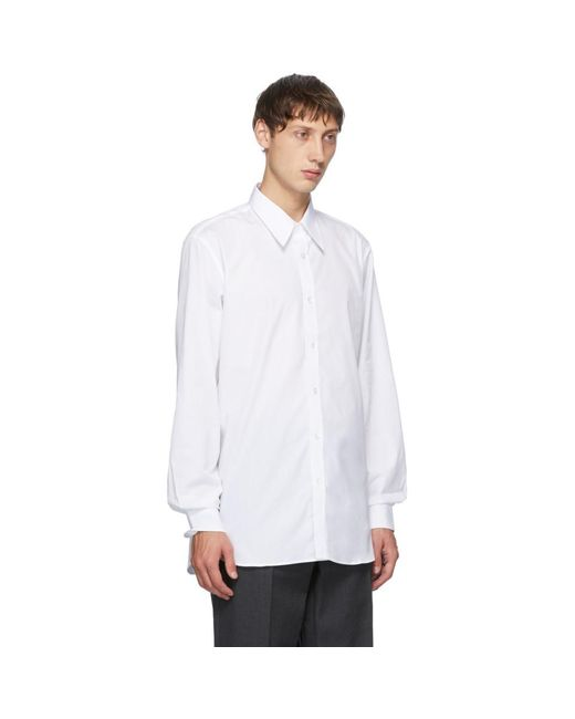 メンズ Dries Van Noten ホワイト ストレート シャツ White