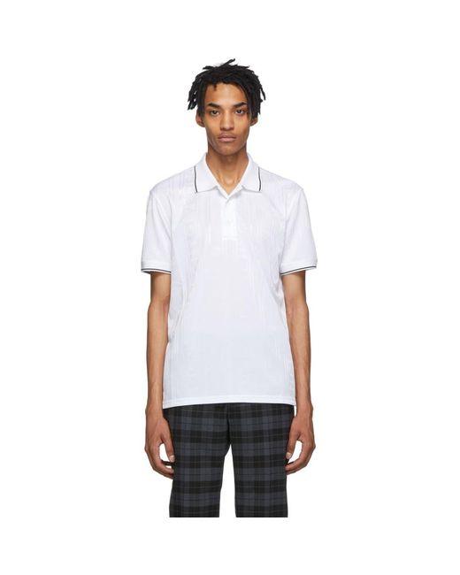 メンズ Givenchy ホワイト ジャカード スポーティ ポロ White