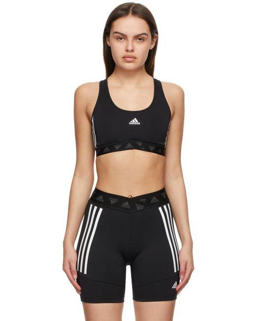Adidas Originals ブラック Adicolor スポーツ ブラ Black