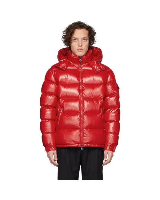 Moncler Red Down Maya Jacket for men