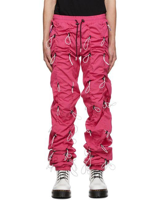 メンズ 99% Is ピンク & ホワイト Gobchang ラウンジ パンツ Pink