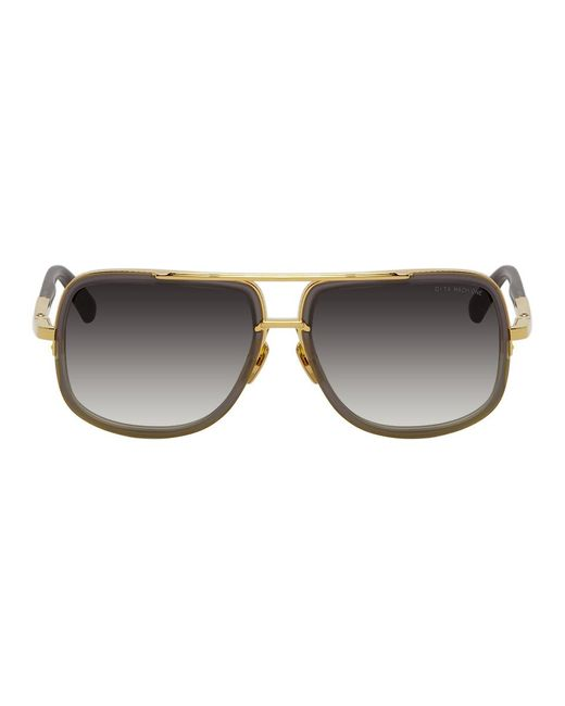 メンズ Dita Eyewear グレー And ゴールド Mach-one サングラス Gray