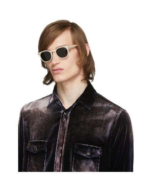 Saint Laurent Men's White Sl 28 Sunglasses