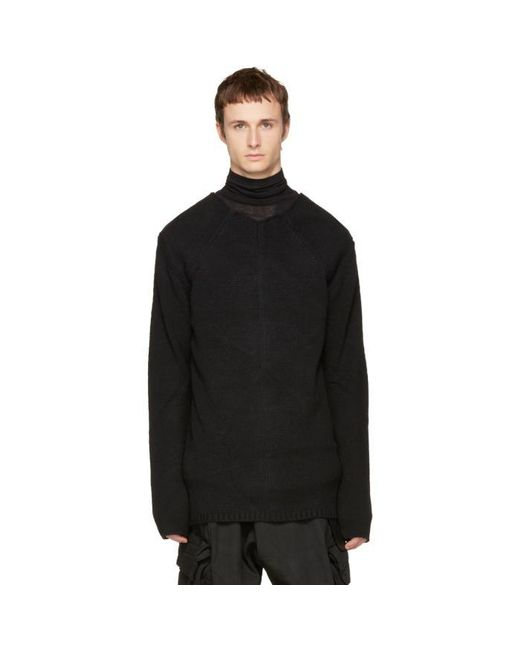Nude:mm   Black High Neck Sweater for Men   Lyst