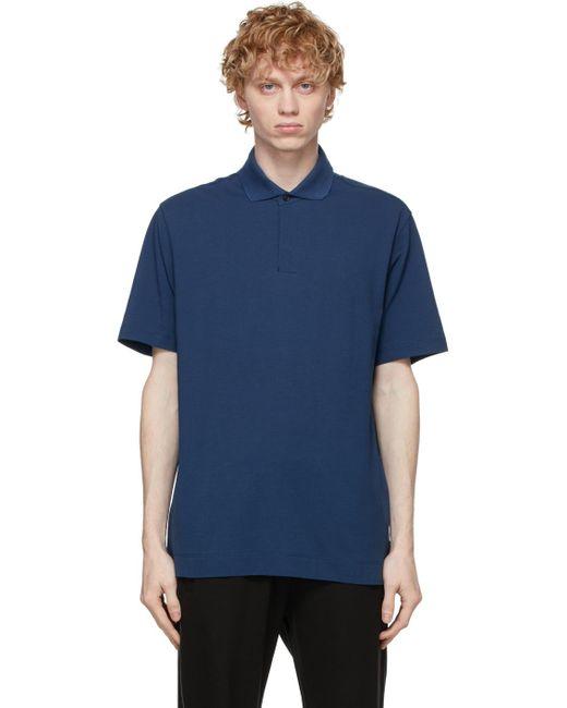 メンズ Z Zegna ブルー ポロシャツ Blue
