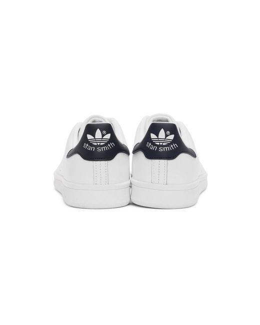 メンズ Adidas ホワイト And グリーン Stan Smith スニーカー White