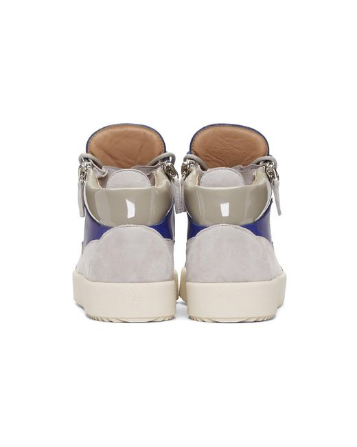 Indigo Suede May London Sneakers Giuseppe Zanotti MOBWOu0