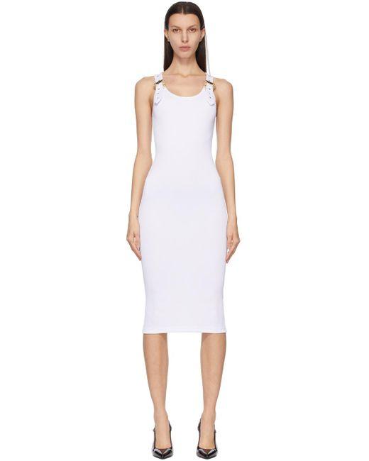 Versace Jeans ホワイト ロング ドレス White