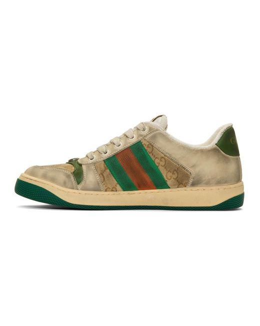 screener leather sneaker gucci