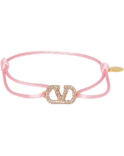 Valentino Garavani ピンク Vlogo ブレスレット Pink