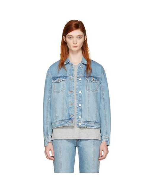Won Hundred | Blue Denim Jackie Jacket | Lyst