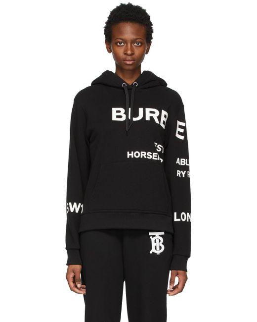 Burberry ブラック オーバーサイズ Horseferry フーディ Black