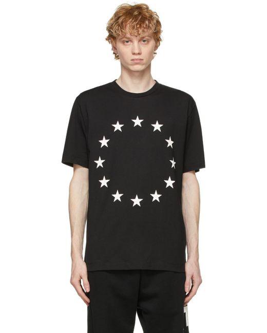 メンズ Etudes Studio ブラック Wonder Europa T シャツ Black