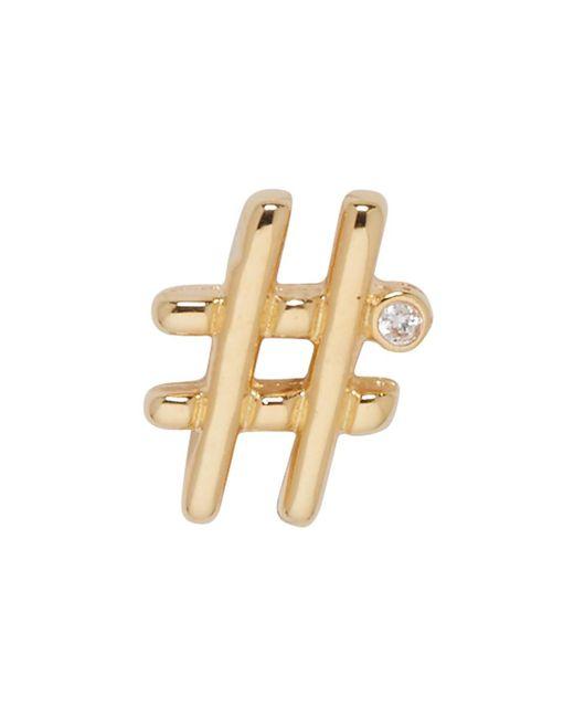Marc Jacobs - Metallic Gold Hashtag Earring - Lyst
