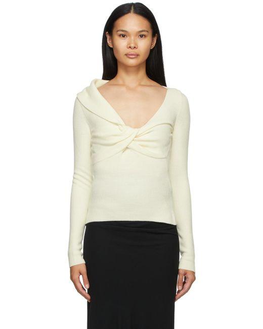 Alexander McQueen オフホワイト ウール ツイスト セーター White