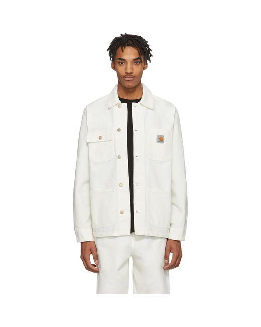 メンズ Carhartt WIP ホワイト Michigan ジャケット White