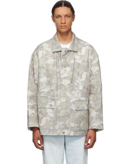メンズ Marcelo Burlon ベージュ & ホワイト Safari カモフラージュ ジャケット Multicolor