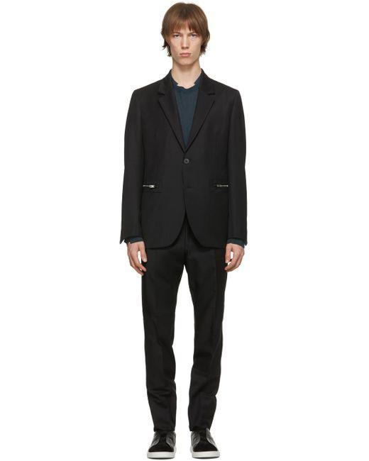 メンズ Ermenegildo Zegna ブラック メリノ #usetheexisting Achillfarmtm スーツ Black