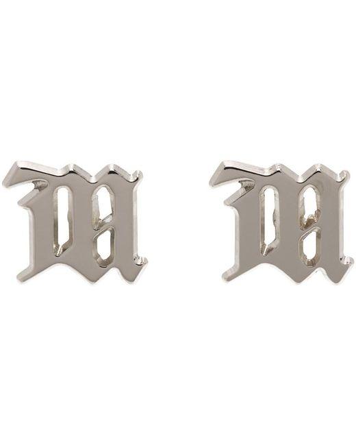 M I S B H V シルバー M スタッド ピアス Metallic
