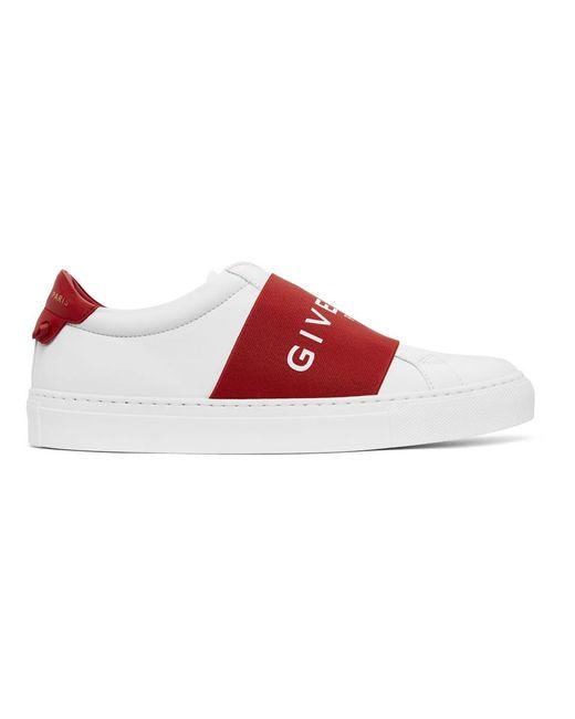 Givenchy ホワイト And レッド Urban Street スニーカー Red