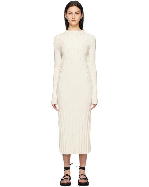 Loulou Studio オフホワイト シルク Gaya ドレス White