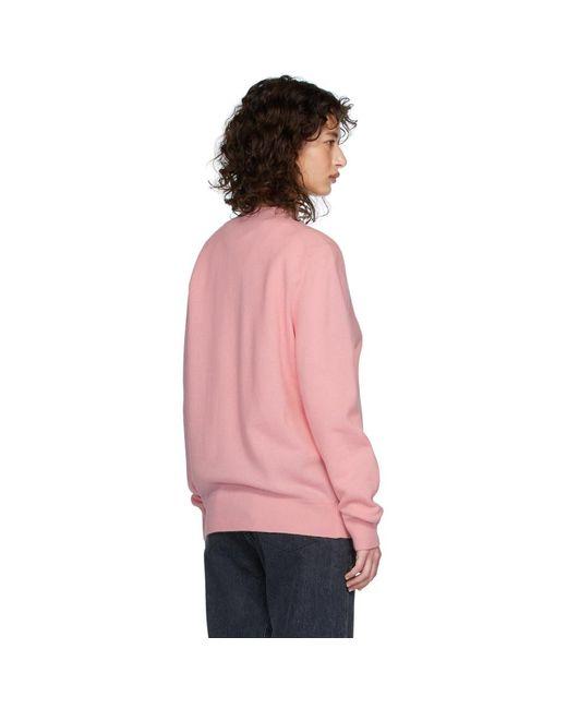 Acne ピンク パッチ カーディガン Pink