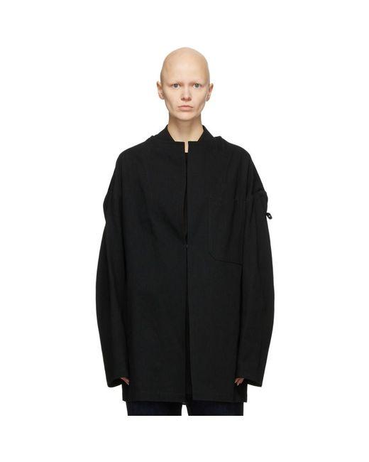 Y's Yohji Yamamoto ブラック U-drop ジャケット Black