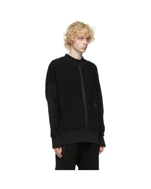 メンズ A_COLD_WALL* * ブラック テクスチャ Rhombus スウェットシャツ Black
