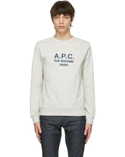 メンズ A.P.C. ベージュ Rufus スウェットシャツ Multicolor