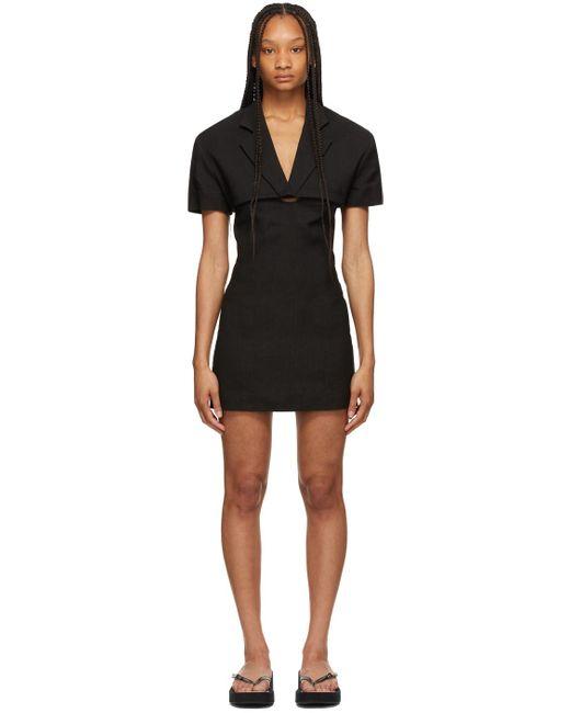 Jacquemus ブラック La Robe Gardian ドレス Black