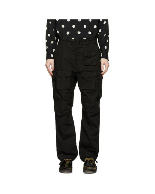 メンズ Engineered Garments ブラック カーゴ パンツ Black