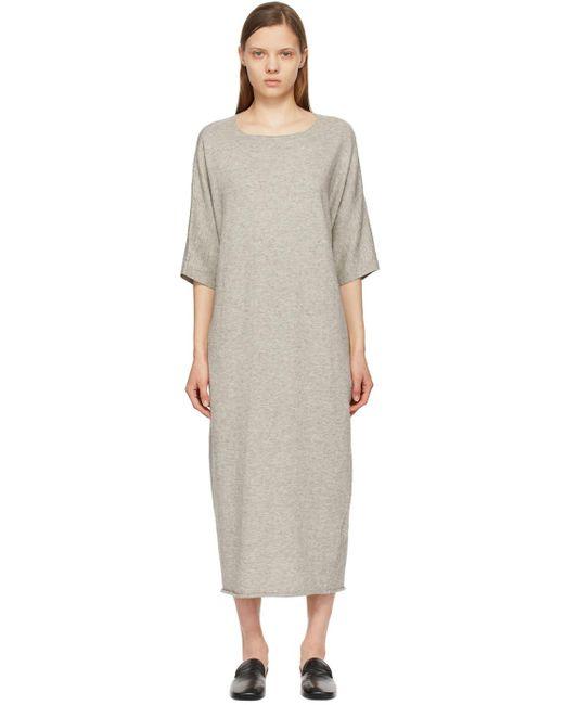 Lauren Manoogian グレー オーバーサイズ Tee ドレス Gray