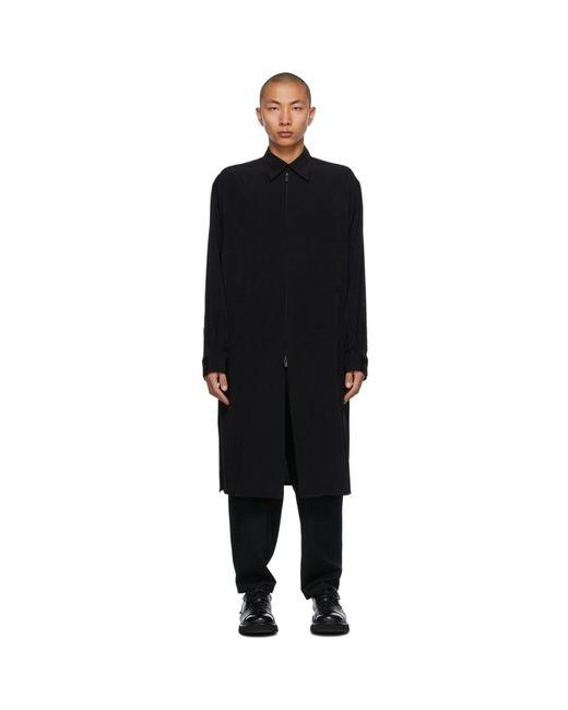 メンズ Yohji Yamamoto ブラック Fastener コート Black