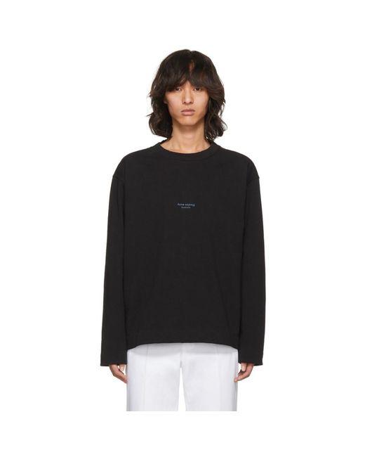 Acne - Black Lynn Sweatshirt for Men - Lyst