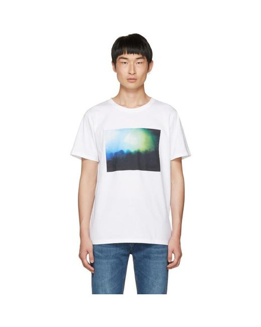 A p c gig printed cotton jersey t shirt in white for men for Apc white t shirt