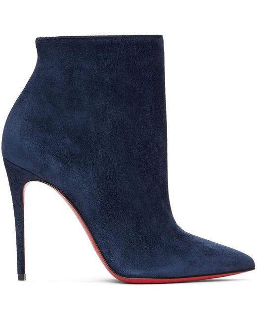 Christian Louboutin ネイビー So Kate 100 ブーツ Blue