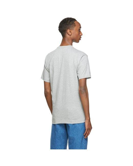 メンズ Comme des Garçons グレー Forever T シャツ Gray