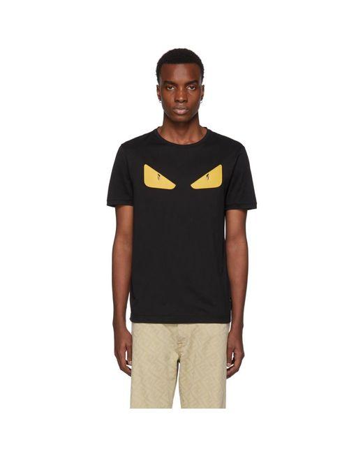 T-shirt noir Bag Bugs Fendi pour homme en coloris Black