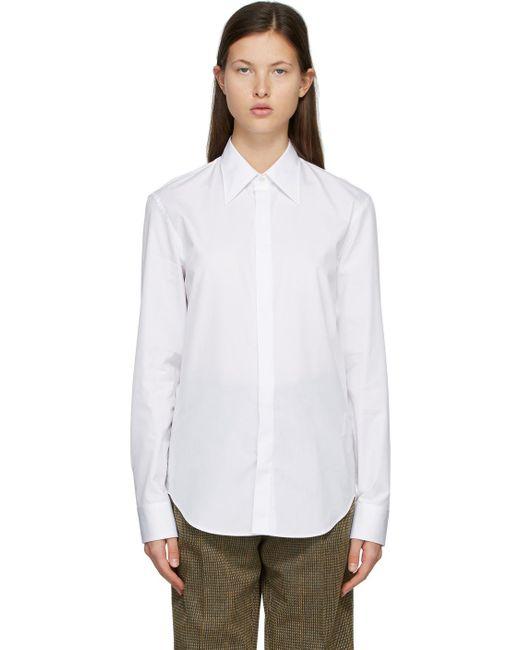 Maison Margiela ホワイト Classic シャツ White