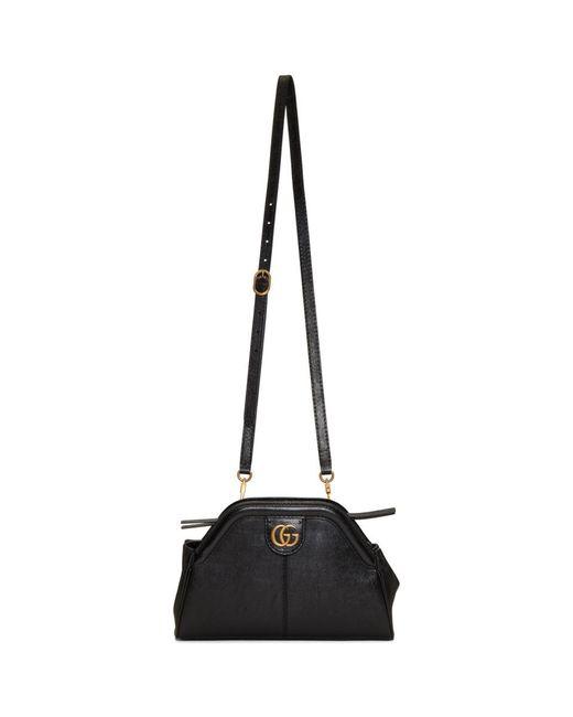 a4d6e23607e Lyst - Gucci Black Small Linea Shoulder Bag in Black